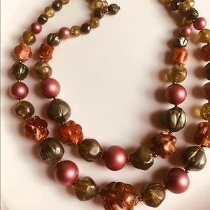 Jewelry - Vintage Multi- Colored beaded  Necklace